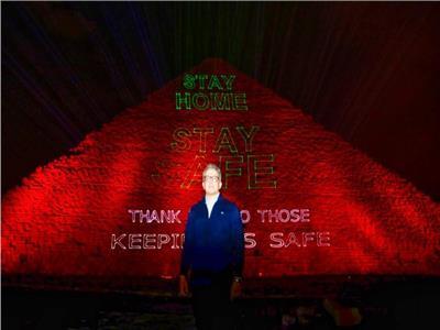 وزارة السياحة تضيء هرم خوفو الأكبر كرسالة للمصريين