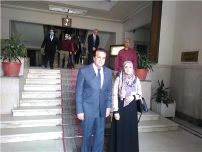 الدكتورة نهى حبشي مع  الدكتور خالد عبدالغفار، وزير التعليم العالي والبحث العلمي