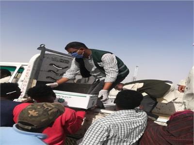 مصر الخير توزع 50 كرتونة إغاثة عاجلة للسودانيين العالقين فى كمين السباعية بأسوان