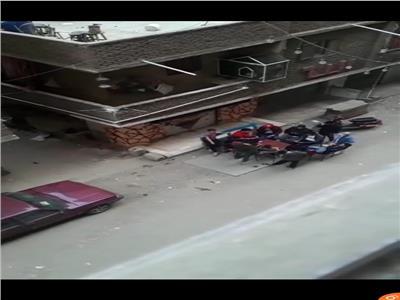 معات وسهر في احد شوارع الهرم وقت الحظر