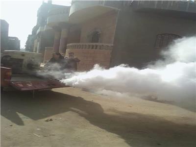 حملات رش لمكافحة الذباب والناموس بالجيزة