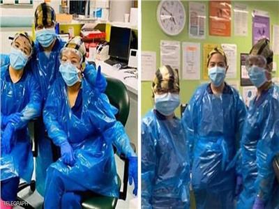 ممرضات ارتدن أكياس القمامة للهروب من الفيروس فأصبن به