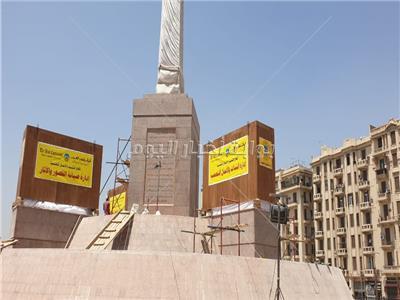 صور جديدة لنقل 4 كباش وتثبيتها وتزين ميدان التحرير تصوير : شيرين الكردي