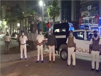 حملة مكبرة لتحقيق الانضباط فى ساعات حظر التجوال بالهرم