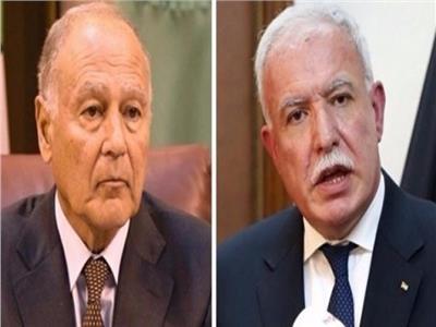 وزير الخارجية الفلسطيني يبحث مع أبو الغيط سبل مواجهة سياسة الضم الإسرائيلية