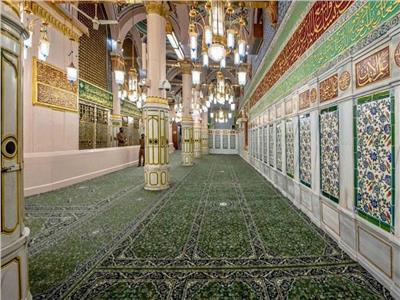 مشروع الترميم والصيانة الجدار القبلي للمسجد النبوي الشريف