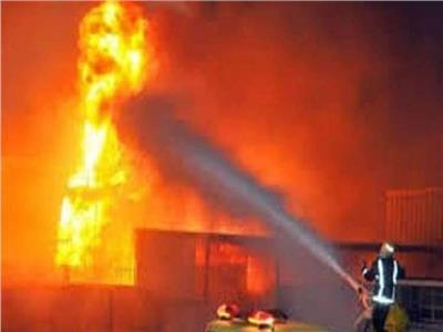 حريق مركز تجاري بالشيخ زايد