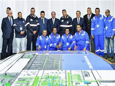 الرئيس السيسي خلال افتتاح أحد المشروعات
