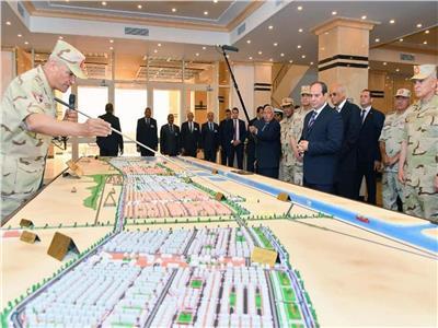الرئيس السيسي خلال افتتاح أحد المشروعات بسيناء