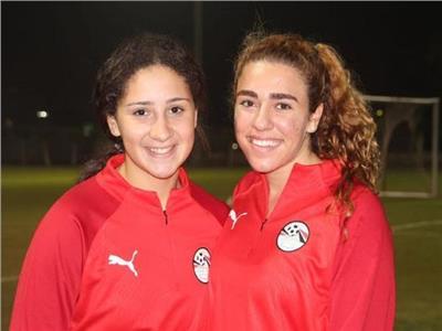 لاعبتا منتخب مصر للكرة النسائية