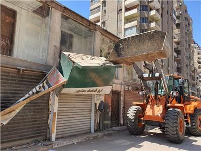 حملات لرفع الاشغالات بشوارع فيصل