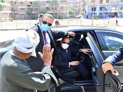 الرئيس السيسي خلال الجولة