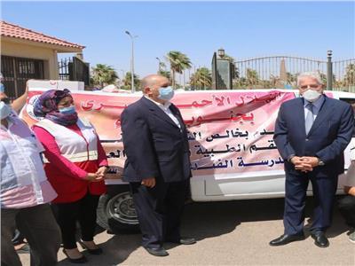 الهلال الاحمر يدعم مؤسسات العزل الطبي بجنوب سيناء