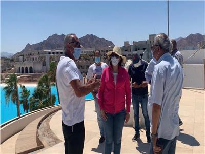 نائب وزير السياحة تتفقد مشروعات التنمية في شرم الشيخ