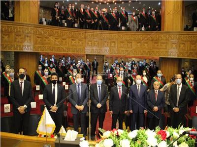 حظة أداء مراسم حفل أعضاء النيابة الإدارية الجدد