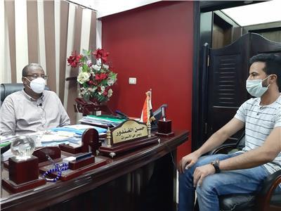 المهندس حسن الغندور مع  محرر بوابة أخبار اليوم