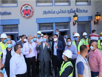 وزير النقل يتابع الاستعدادات النهائية لافتتاح محطات المرحلة الرابعة للخط الثالث للمترو