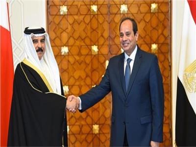 العاهل البحريني حمد بن عيسى آل خليفة والرئيس عبدالفتاح السيسي