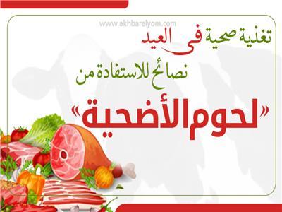 إنفوجراف| لتغذية صحية في العيد.. نصائح للاستفادة من «لحوم الأضحية»