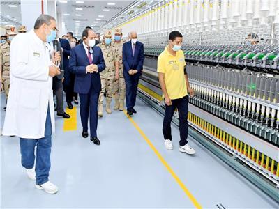 الرئيس عبد الفتاح السيسي يتفقد المشروع