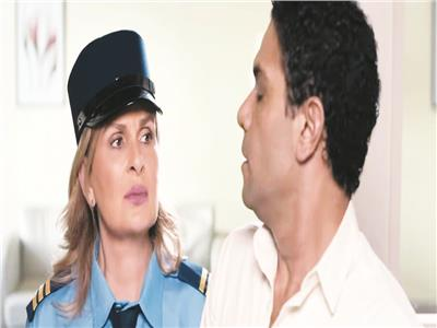 يسرا وآسر ياسين في لقطة من فيلم صاحب المقام