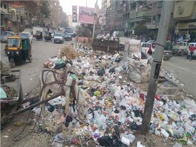 القمامة في شبرا الخيمة