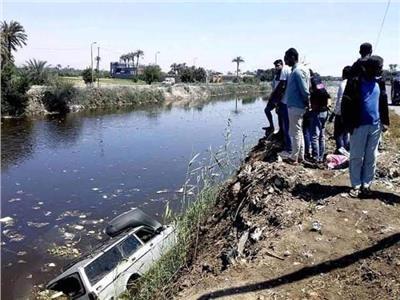 ضحايا حادث غرق ميكروباص ومصرع 8 افراد من المنوفيه
