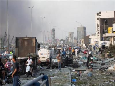 انفجار بيروت -- صورة من رويترز