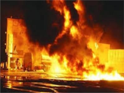 اشتعال النيران في مجمع محاكم قنا