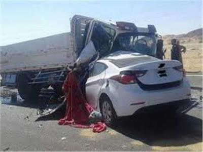 حادث تصادم بين سيارة ملاكى وسيارة جامبو