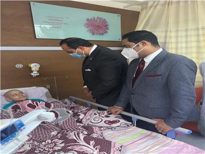 خلال تفقد د.أحمد السبكي، لمستشفى النصر التخصصي للأطفال التابعة لهيئة الرعاية الصحية بمحافظة بورسعيد