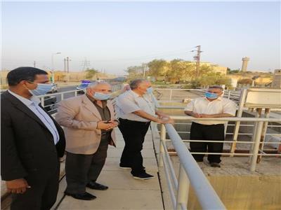 وزير الري في زياره تفقدية لمحافظة أسوان لمتابعة جاهزية المنشات المائيه