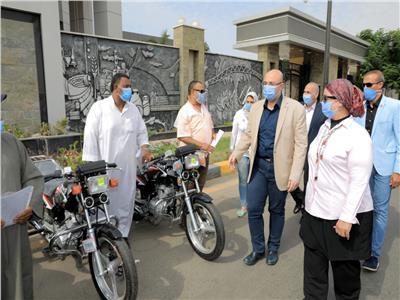30 دراجة بخارية مجهزة لذوي الاحتياجات الخاصة في بني سويف