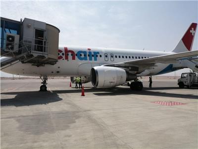 مطار الغردقة الدولي يستقبل أولي رحلات شركة Chair airline السويسرية