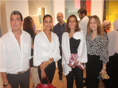 ميس حمدان في افتتاح معرض وليد طاهر