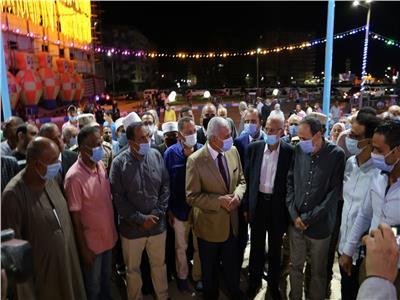محافظ السويس يفتتح ميدان مصر بعد تطويره