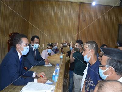 الحكم على المتهم بذبح ابنة عمه وطفليها بكفر الدوار بالحبس خمسة عشر عاما