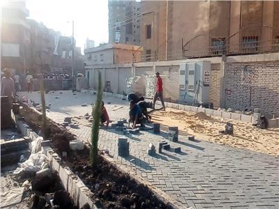 اعمال التطوير بمنطقه بنزايون