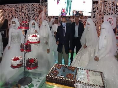 حفل زفاف جماعي بالعريش لعدد 100عروسة