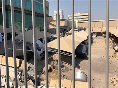 انهيار موقف سيارات بالسعودية