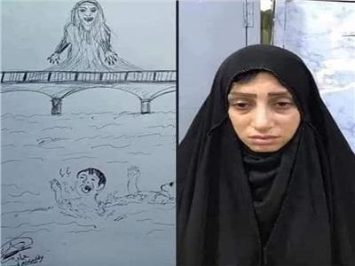 مستخدمو السوشيال تداولوا صورا مرسومة للأم المتهمة تجسد جريمتها