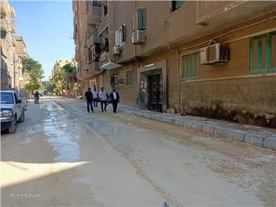 تجريد و رصف شوارع العمرانية فى الجيزة