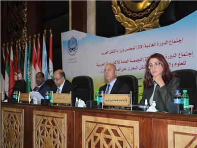 الفريق كامل الوزير خلال اجتماع «وزراء النقل العرب»- أرشيفية