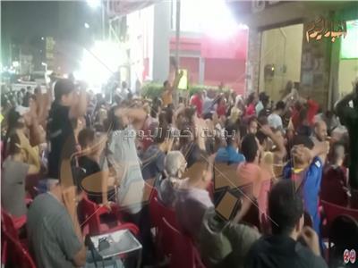 فرحة جمهور الأهلي بعد الفوز على الوداد المغربي