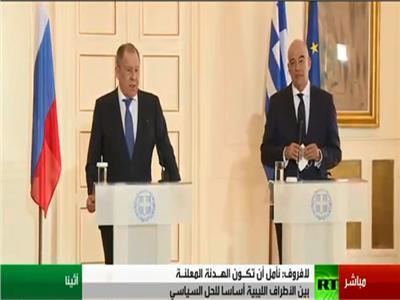 مؤتمر صحفي لوزيري خارجية اليونان وروسيا