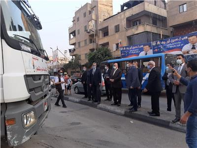 محافظ القاهرة يتفقد موقع كسر ماسورة المياه بشارع سكة الوايلي