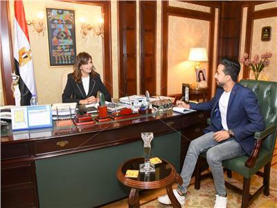 وزيرة الهجرة خلال حوارها مع «بوابة أخبار اليوم»