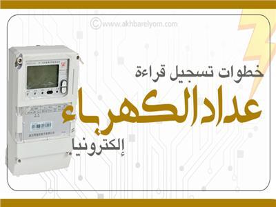 إنفوجراف| خطوات تسجيل قراءة عداد الكهرباء إلكترونياً