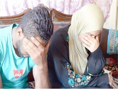 الضحية مع زوجها