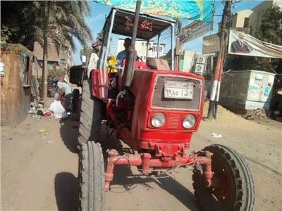 أعمال تسوية شوارع قرية شبرا بخوم